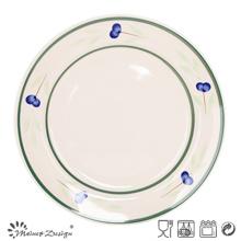 """10.5 """"plaque de dîner en céramique peinte à la main en gros"""