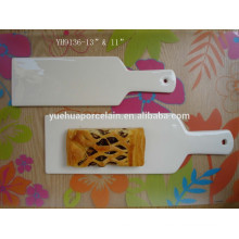kitchen tool ceramic cake pan and pizza pan with handle