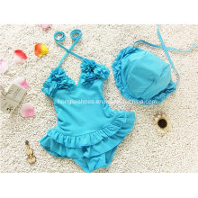 Blue Little Girl′s Fashion Swimwear