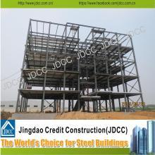 Edificio de estructura de acero de cinco pisos de bajo costo