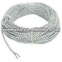 Tissu recouvert de gaine de câble électrique cordon textile coton