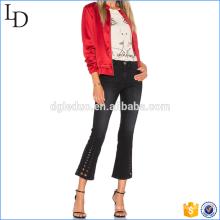 2017 Nueva Moda Sexy de cintura alta Slim Elastic Hollow out jeans