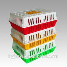 Facturación Caja de plástico Jaulas de pollos vivos para transportar