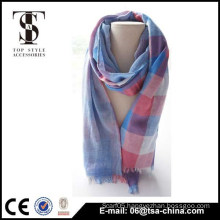 Latest Design Lovely girl 100% viscose lattice cute Scarf