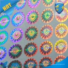 3D anti falso marca de protección etiqueta adhesiva de encargo barato del holograma