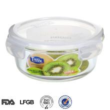 bols à dessert en verre rond micro-ondes sous vide boîte de rangement en verre