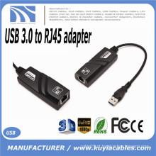 Hot-sale Preto USB 3.0 10/100 / 1000Mbps Gigabit Ethernet RJ45 Cartão de Rede Externo LAN Conector do Adaptador Uma porta USB