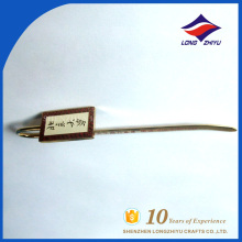 Diseño personalizado logotipo de impresión plana metal marcador para regalo de recuerdo