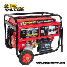 6000W Tipo Aberto Genset de Cobre Gerador de Gasolina 220V Gasolina 15HP com Alças e Rodas