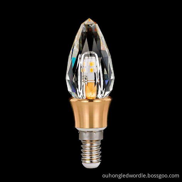 E14 led crystal candle bulb