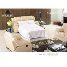 Складной кожаный диван-кровать 814 #