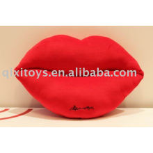 plush and stuffed lip cushion toy
