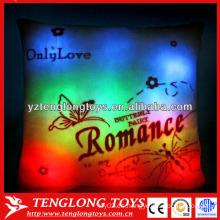 China fábrica Romance LED almohada coloridos brillantes llevado luz almohada