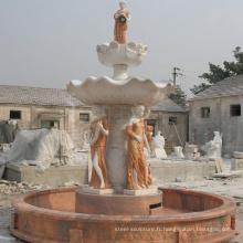 Vente chaude en marbre fontaine d'eau pour la décoration de jardin