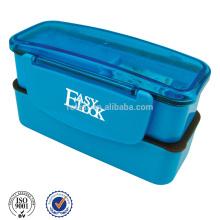 Caja de plástico Bento con doble capa