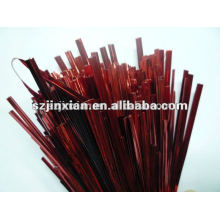 4mm PET single metal wire twist tie for bread candy packing