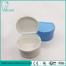 Plastic Colorful Portable Denture Box With Net