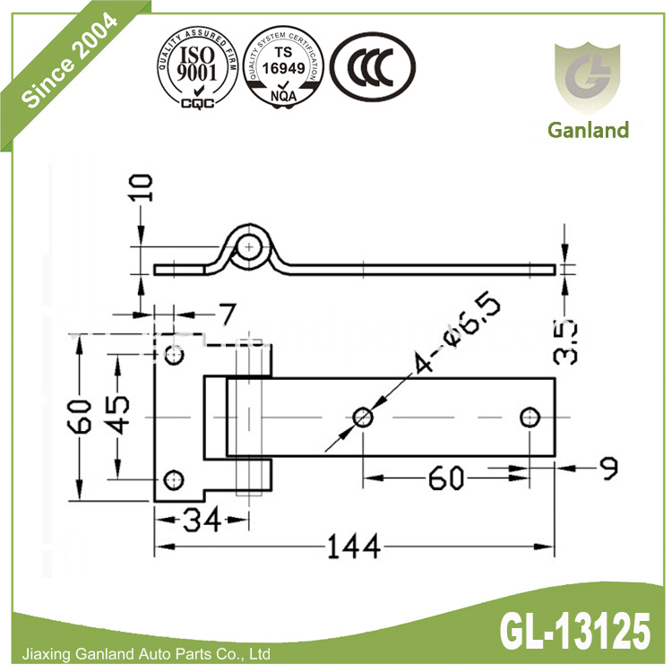Side door hinge gl-13125