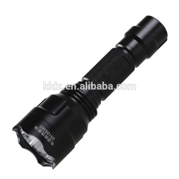 6061-T6 aviation aluminum Rechargeable Operated LED Flash light