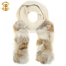 Дизайн тавра Теплый зимний трикотажный шлейф и подлинный шарф из енота