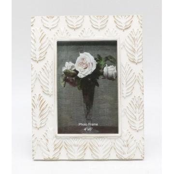 Leaf Design White Resin Photo Picture Frames