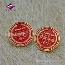 2017 mais novo emblema de pino de honra de negócios em esmalte redondo