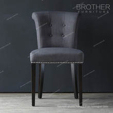 modern fabric button nailheads luxury black dining chairs