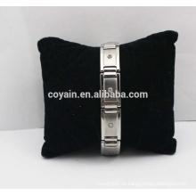Rhinestone-Edelstahl-Armband der Art- und Weisedame mit Kristall