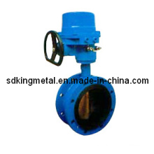 Rubber Seat Gear Operation Flanged Butterfly Valve