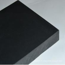 Épaisseur de feuille en plastique noire de PVC 1-60mm