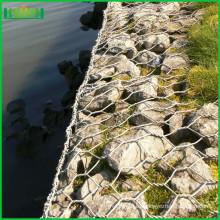 Gavión tejido hexagonal recubierto de pvc de alta calidad