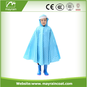En stock Kindergarten Poncho Kids Raincoat