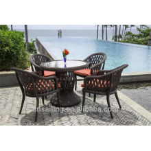 Hot sale Outdoor All Weather black dining table and chairs
