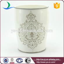 Classical decal ceramic trash can wholesale