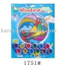 Brinquedo de pintura Suncatcher, conjunto de pintura de cor de janela