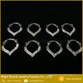Красивый Круглый Прозрачный Кристалл Кольцо Для Септума Старинные Нос Пирсинг