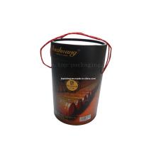 Cor do chocolate seco vinho tinto caixa de papel / caixa de papel de presente
