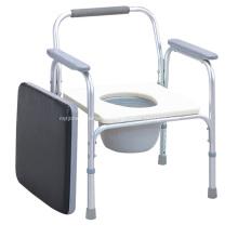 Cadeira ajustável de dobramento ajustável da cômoda com assento acolchoado