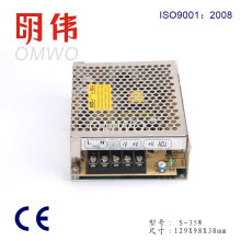 Wxe-35s-2 AC / DC Saída Única Compacta Fechada LED Fonte de Alimentação
