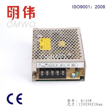 Wxe-35s-2 Fuente de alimentación de conmutación de LED de salida simple compacta AC / DC