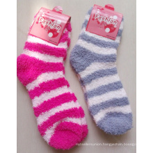 Stripe Design Microfiber Socks