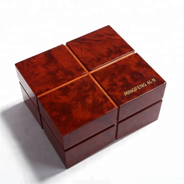 Högkvalitativ Pianolackerad Wooden Watch Box Packaging