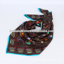 100% шелковые ручные печатные малайзийские шарфы оптовые поставщики