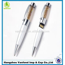 Más barato modelo USB memoria USB de disco personalizado Logo Metal cristal USB Flash Pen Drive 500gb