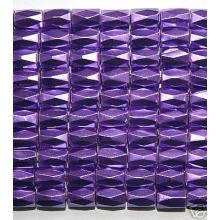 Purple Hematite 18 Faced Tube Beads 5X8MM Grade AB