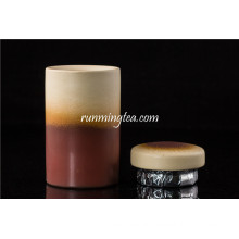 hot sale Brown Ceram tea canist