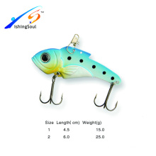 VBL013 Varios tamaños pesca artificial bass vib cuchara cuchara señuelo de la pesca de metal