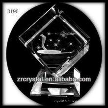 K9 Animal signe serpent de Laser à l'intérieur du cristal