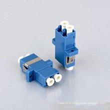 Adaptateur fibre optique LC duplex 0,2 dB avec bride