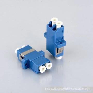 0.2dB Duplex LC Fiber Optic Adapter with Flange